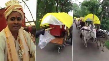 Baraat On Bullock Cart: यूपी के देवरिया में अनोखी शादी, बैल गाड़ियों पर निकली बारात, देखें वीडियो
