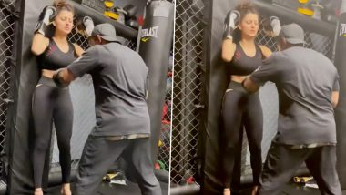 The man continuously punched Urvashi Rautela's stomach, this video of the actress will surprise
