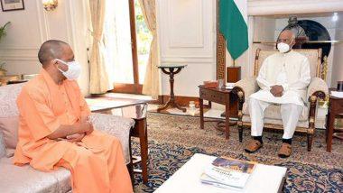 सीएम योगी आदित्यनाथ ने राष्ट्रपति रामनाथ कोविंद से की मुलाकात