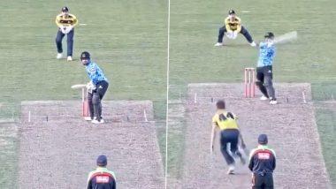 T20 Blast: राशिद खान ने लगाया हेलीकॉप्टर शॉट, महज 13 गेंदों में खेली तूफानी पारी (देखें वीडियो)