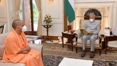 सीएम योगी आदित्यनाथ ने राष्ट्रपति भवन में राष्ट्रपति रामनाथ कोविंद से मुलाकात की