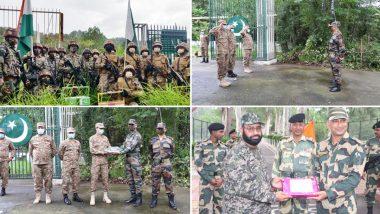 भारत और पाकिस्तान की सेना ने ईद के अवसर पर मिठाई का आदान-प्रदान किया, देखें तस्वीरें