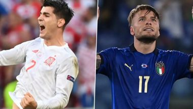 Euro Cup 2020: स्पेन और इटली के बीच खेला जाएगा यूरो कप का पहला सेमीफाइनल, होगी कांटे की टक्कर