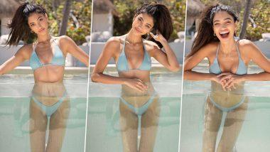 Alanna Panday Bikini Photos: अनन्या पांडे की कजिन अलाना ने बिकिनी पहन स्विमिंग पूल में लगाई आग, हॉटनेस देख छूट जाएंगे पसीने