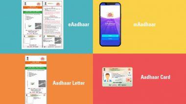 आधार को लेकर आपके मन में भी है ये शंका? UIDAI ने बताया Aadhaar Letter, eAadhaar, mAadhaar, Aadhaar PVC Card सभी सामान रूप से मान्य और स्वीकार्य