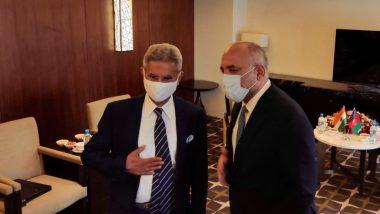 दुशान्बे: SCO मीट से पहले एस. जयशंकर की अफगान FM मोहम्मद हनीफ अतमर से मुलाकात!