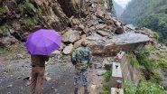 Uttarakhand: उत्तरकाशी के हेलुगढ़ के पास भूस्खलन के कारण गंगोत्री राजमार्ग बंद.