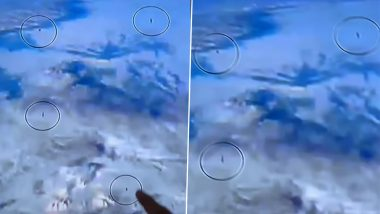 Fleet Of 10 UFOs: नासा लाइवस्ट्रीम के दौरान अंतरराष्ट्रीय अंतरिक्ष स्टेशन के पास 10 यूएफओ को मंडराते हुए देखे जाने का दावा (Watch Video)