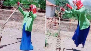 Scariest Viral Video: भूतिया मास्क पहने हुए स्प्रिंग अटैच 'बिजूका' का डरावना वीडियो हुआ वायरल