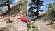 Kinnaur Landslide: हादसे में बाल-बाल बचे शख्स ने हिमाचल प्रदेश के सांगला भूस्खलन का शेयर किया वीडियो