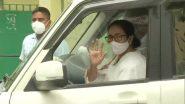 Delhi: केंद्रीय मंत्री नितिन गडकरी से मिलने पहुंचीं ममता बनर्जी