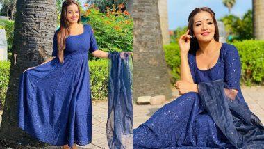 भोजपुरी एक्ट्रेस Monalisa ने ब्लू कलर की ड्रेस में दिखाया अपना खूबसूरत अवतार, लुक देखकर हो जाएंगे इम्प्रेस