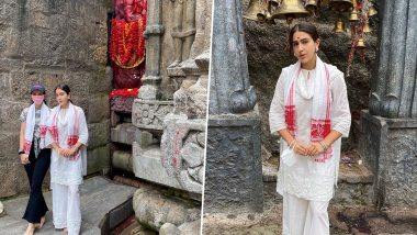 Sara Ali Khan ने असम के कामाख्या देवी मंदिर में टेका मत्था, शेयर की भक्ति भाव से भरी ये तस्वीरें