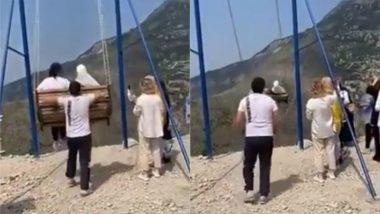 जमीन से 6 हजार फीट की ऊंचाई पर झूला झूलना महिलाओं को पड़ा महंगा, हवा में जाते ही टूटी जंजीर और फिर… देखें हैरान करने वाला Viral Video