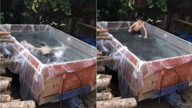 Viral Video: बच्चे के लिए पिता ने बनाया ट्रैक्टर ट्रॉली को बना दिया स्विमिंग पूल, इस जुगाड़ को देख आप भी हो जाएंगे शख्स के कायल