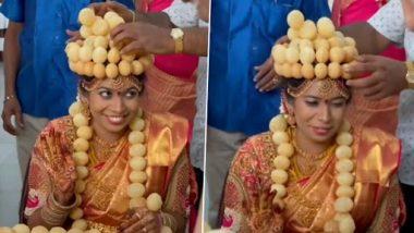 Viral Video: अपनी शादी में दुल्हन ने पहनी गोलगप्पे की माला और ताज, वीडियो देख लोगों के चेहरे पर आयी मुस्कान