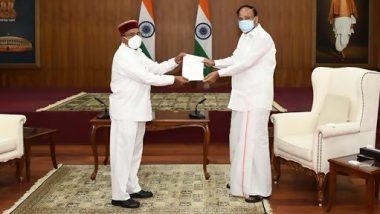 कर्नाटक के मनोनीत राज्यपाल थावरचंद गहलोत ने राज्यसभा की सदस्यता से दिया इस्तीफा