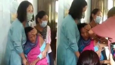 Viral Video: कोविड वैक्सीन लेने गई महिला ने चिल्ला चिल्लाकर सेंटर उठाया सिर पर, टीका लगाने के लिए करना पड़ा कुछ ऐसा...देखें वीडियो