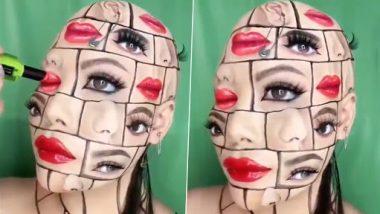 Viral Video: मेकअप आर्टिस्ट ने चेहरे पर बनाया दिल दहला देने वाला ऑप्टिकल इल्यूजन, वीडियो देख चकरा जाएगा दिमाग