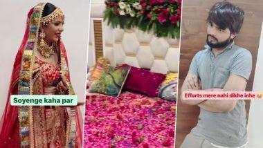 Viral Video: सुहागरात से पहले बिस्तर को पूरी तरह से फूलों से ढका देख दुल्हन ने दिए लोटपोट कर देने वाले रिएक्शन, देखें वीडियो
