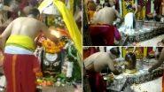 Sawan Somvar 2021: सावन के पहले सोमवार पर उज्जैन के महाकालेश्वर मंदिर में की गई भस्म आरती, देखें वीडियो