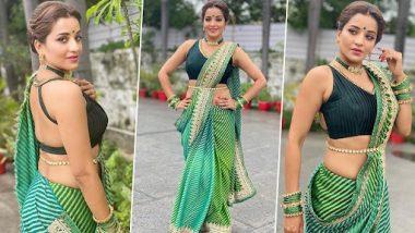 Monalisa Hot Photo: भोजपुरी एक्ट्रेस मोनालिसा ने शेयर की अपनी हॉट तस्वीरें, हरे रंग की साड़ी में ढा रही हैं कहर