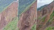 VIDEO: हिमाचल के सिरमौर जिले के बरवास में भूस्खलन होने से राष्ट्रीय राजमार्ग-707 बंद