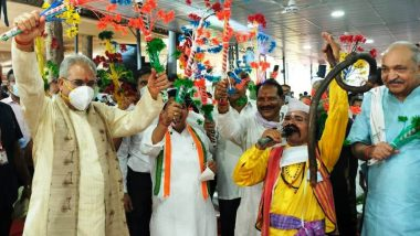 छत्तीसगढ़ में धूमधाम से मनाया गया हरेली का त्योहार, सीएम भूपेश बघेल ने अपनी पत्नी के साथ देवी-देवताओं की पूजा की