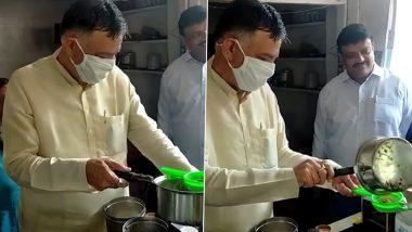 UP के कानपुर में दुकान पर चाय बनाते दिखे योगी सरकार के मंत्री सतीश महाना, देखें वायरल वीडियो