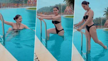 Rubina Dilaik Bikini Video: स्विमिंग पूल में नहाती रुबीना दिलैक ने ब्लैक बिकिनी पहनकर ढाया कहर