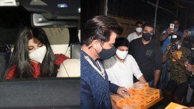 शादी के बाद पति के साथ कार में निकली Rhea Kapoor, अनिल कपूर ने मीडिया में बांटी मिठाईयां (Photos)