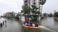 महाराष्ट्र  : बाढ़ के पानी में डूबे पुल से गुजर रही बस बही, चार लोग लापता