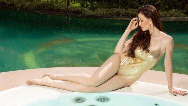 Arbaaz Khan की गर्लफ्रेंड Giorgia Andriani ने गोल्डन स्विमशूट पहनकर दिखाया हॉट अवतार, लग रही है जलपरी जैसी