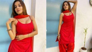 Monalisa Desi Look: रेड कलर के ड्रेस में मोनालिसा ने बरपाया कहर, एक्ट्रेस के देसी लुक पर फिदा हुए फैन्स