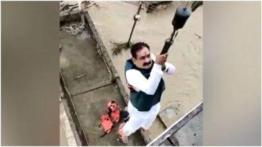 लोगों को बचाने गए मध्य प्रदेश के गृह मंत्री नरोत्तम मिश्रा खुद बाढ़ में फंस गए, सेना के हेलीकॉप्टर ने ऐसे किया रेस्क्यू