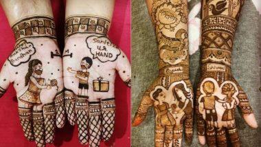 Raksha Bandhan 2021 Mehndi Design: हथेली पर मेंहदी रचाकर मनाएं भाई-बहन के स्नेह का पर्व रक्षा बंधन, देखें आसान और आकर्षक डिजाइन्स