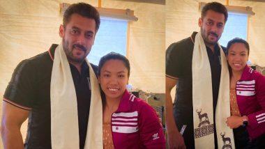 Salman Khan से मिलने पहुंची मीराबाई चानू, दबंग की जबरदस्त फैन हैं ये सिल्वर मेडलिस्ट