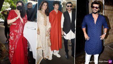 Rhea Kapoor-Karan Boolani Wedding: अनिल कपूर के घर सज-धज कर पहुंचे सितारें, अर्जुन, खुशी, शनाया कपूर ने मारी एंट्री