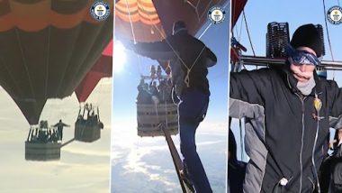Viral Video: दो पैराशूट के बीच बने संकरे प्लैटफॉर्म पर 6,522 मीटर की ऊंचाई पर चलते शख्स का क्लिप वायरल, कमजोर दिल वालों को आ सकता है अटैक