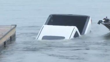 Viral Video: लाइव रिपोर्टिंग के दौरान पीछे खड़ी कार फिसलकर झील में डूबी, वीडियो देख हैरान हुए लोग