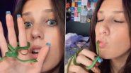 Snake Video: सांपों से खेलती है ये लड़की, इसके स्टंट उड़ा देगी आपकी नींद, देखें वायरल वीडियो