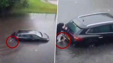 Viral Video: ग्लासगो बाढ़ में फंसी कार को मालिक के साथ धक्का देते हुए कुत्ते का क्लिप वायरल, वीडियो देख हो जाएंगे दंग