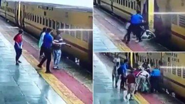Viral Video: चलती ट्रेन में पकड़ने की कोशिश में गिरी महिला, यात्रियों ने ऐन मौके पर मौत के मुंह में जाने से बचाया, देखें वीडियो