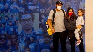 IPL 2021 के लिए 'हिटमैन' Rohit Sharma तैयार, MI ने खास अंदाज में किया स्वागत, शर्मा फैमिली की देखें खुबसूरत तस्वीर