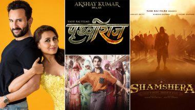 YRF ने अपनी चार फिल्मों 'बंटी और बबली 2', 'पृथ्वीराज', 'जयेशभाई जोरदार', 'शमशेरा' की रिलीज डेट का किया ऐलान