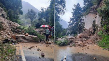 Uttarakhand Landslide: उत्तरकाशी में लगातार बारिश से भूस्खलन, गंगोत्री राजमार्ग बंद, देखें तस्वीरें
