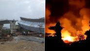 Mumbai में हुए दो बड़े हादसे: BKC में फ्लाईओवर का हिस्सा गिरने से 14 जख्मी, मानखुर्द में आग ने मचाई तबाही (VIDEO)