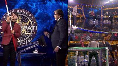 KBC 13: गोलकीपर PR Sreejesh के सामने अमिताभ बच्चन ने आजमाया हॉकी में हाथ, Funny Video जीत लेगा दिल