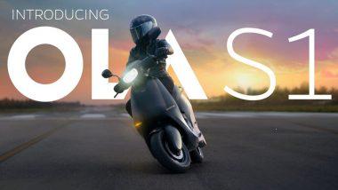 ओला ने अपने इलेक्ट्रिक स्कूटर एस1 की बिक्री शुरू की