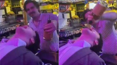 स्टाइल में शराब पीने के चक्कर में हुआ शख्स का बुरा हाल, Viral Video में देखें कैसे पल भर में निकल गई सारी हेकड़ी